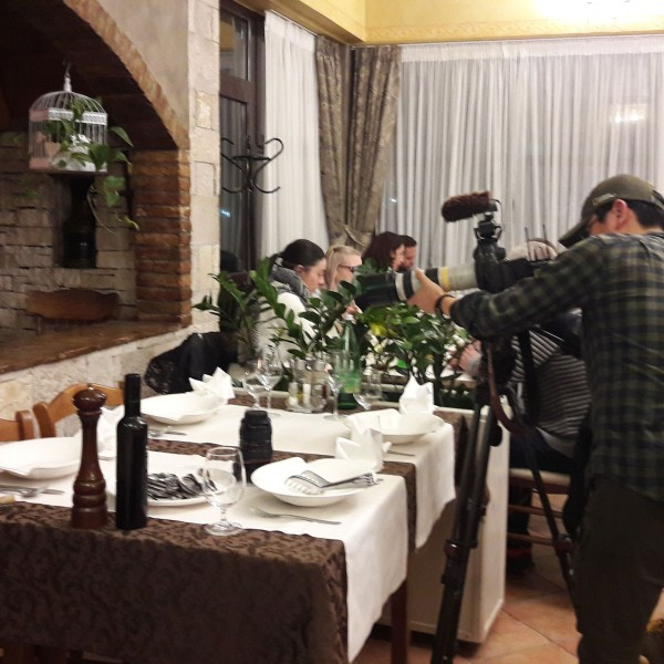 France and South Korea's TV crews in Rovinj