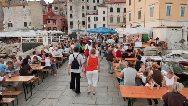 Summer atmosphere with music and local traditions