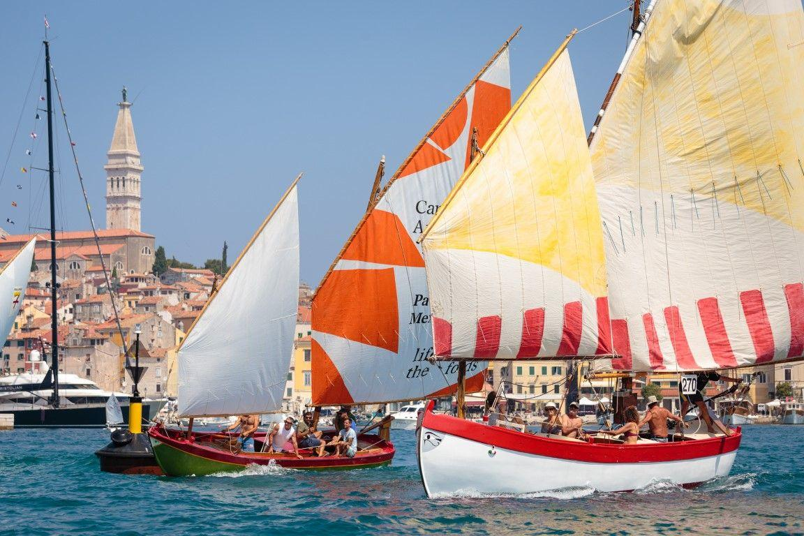 14th Rovinj's regatta of traditional boats with lug and latin sails