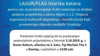 Objavljen FLAG-natječaj za dodjelu potpore projektima u okviru Mjere 1.1.2.